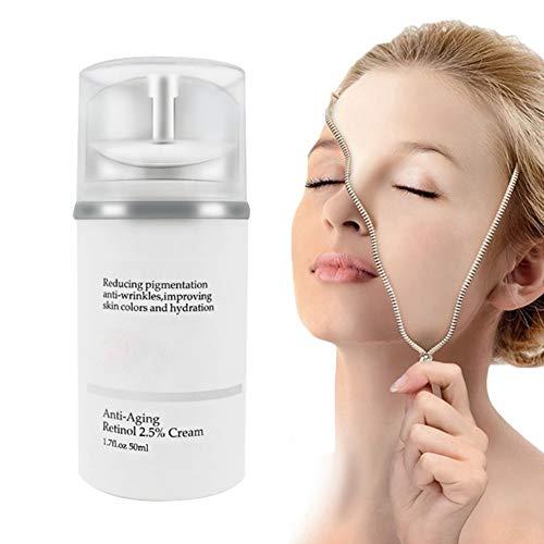 Retinol Cream for Face + Facial Moisturizer with Aloe Vera & Vitamin E & Organic Jojoba Oil - Best Anti-aging Anti Ageing Anti Wrinkle Fine Lines Moisturizing for Men & Women, All Skin Types (A)