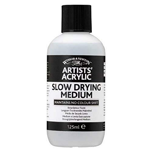 Winsor & Newton 3030932 Langsam Trocknedes Medium, Trocknungsverzögerung für Acrylfarben - 125ml Flasche
