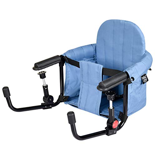 GYMAX Baby Hook On High Chair, Tight Fixing Clip On Table Seat with Safety...