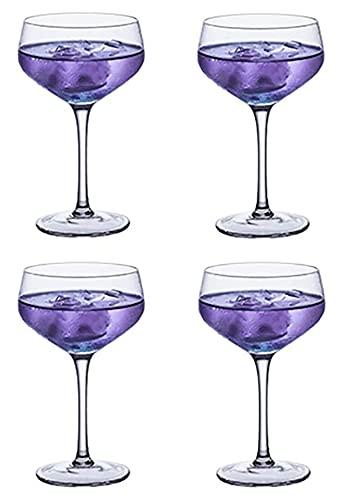LBBZJM Whisky Tumblers Gafas Clear Crystal Cocktail Cocktail Webware, Martini Copa de Vidrio Elegante STEMMED Gafas Copas de Vino clásico Tazas de Cerveza sostenible (Color : D, Size : 200ML*4)