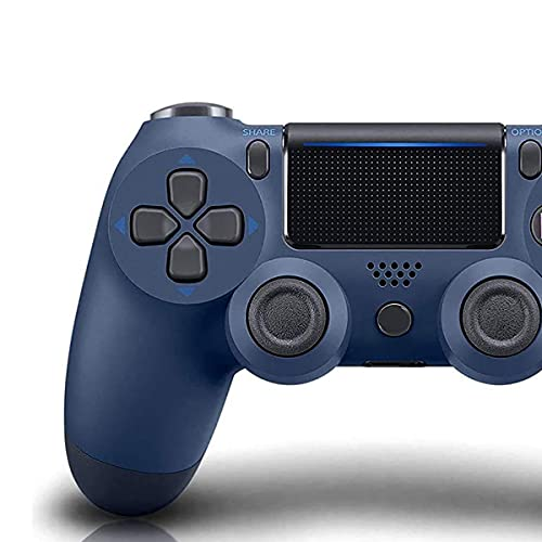 PS4 Controller Wireless Bluetooth Gamepad for Sony Playstation 4 with USB Cable Compatible with Windows PC & Android iOS【Upgraded Version】(Midnight Blue)