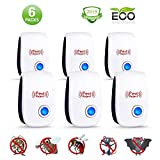 Ultrasonic Pest Repeller (6 Pack) - Plug in Electronic Repellent, Pest Control, No More Pest, Best Pest Controller for Mice, Mosquito, Spider, Cockroach, Flies, Bed Bugs and Other Insects-2019