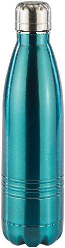 Rosenstein & Söhne Edelstahl Flasche: Doppelwandige Vakuum-Isolierflasche aus Edelstahl, 0,5 Liter (Trinkflasche Edelstahl)