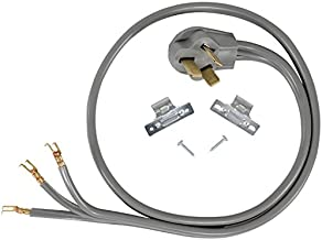 Certified Appliance Accessories 50-Amp Appliance Power Cord, 3 Prong Range Cord, 3 Wires with Open-End Connectors, 4 Feet, Copper Wire