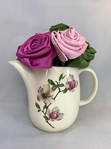 Half Dozen Rose Minneapolis Mall Bouquet upcycled from neckties in mens a teapot Under blast sales