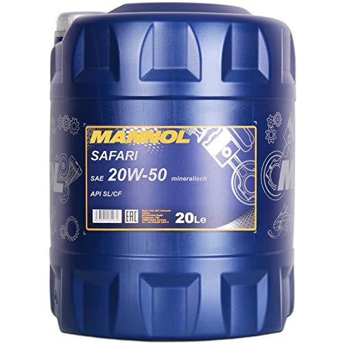 MANNOL 20W-50 Safari 20 Liter 20W50 Motoröl 20W/50