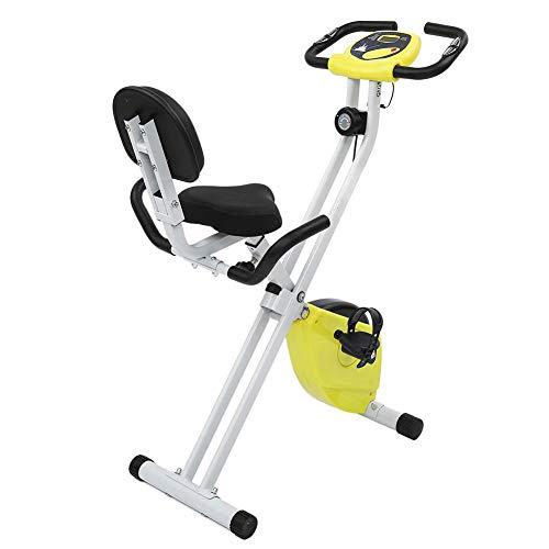AINY Ciclismo Indoor Bicicleta Estática, Inicio De Bicicletas Trainer con Pantalla LCD Plegable Magnético Ajustable De Bicicleta De Ejercicios De Entrenamiento De Resistencia Cardio Fitness Ciclismo