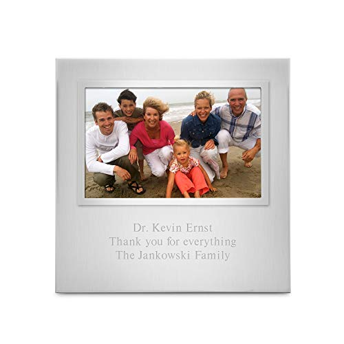 Things Remembered Personalized Silver Uptown 4 x 6 Landscape Frame with Engraving Included