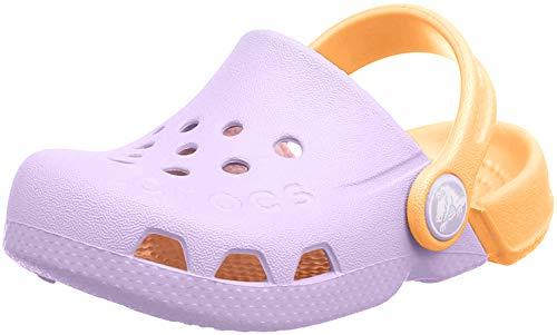 Crocs Electro Kids, Zuecos Unisex Niños, Morado (Lavender/Cantaloupe 5PK), 32/33 EU