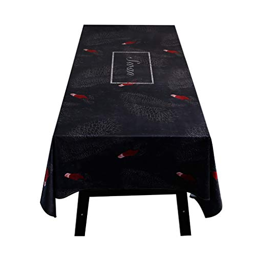 LQQ Tablecloth tafelkleed, velours tafelkleed, tafelkleed, zijdeglans, edele tafelkleed, tafelkleed, onderhoudsvriendelijk, vlekbescherming, breedte en lengte naar keuze, tuin, kamerdecoratie, 2 kleuren