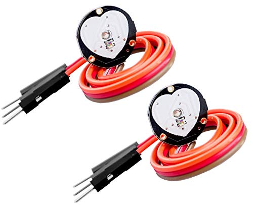 TECNOIOT 2 Unidades Pulsesensor Módulo de Sensor de Pulso de frecuencia cardíaca