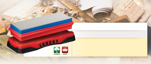 Lansky Sharpeners Banc à diamants 2 côtés pour homme et femme, taille unique