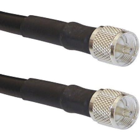 US MADE  RG-213//U   CB  Ham Radio  PL259 UHF to PL259 UHF coax cable  15 FT