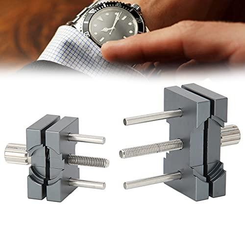 Base del movimiento del reloj, reparación del soporte de la base fija del movimiento del reloj 2 uds. Movimiento del reloj Base fija Soporte de movimiento de aleación de aluminio ajustable