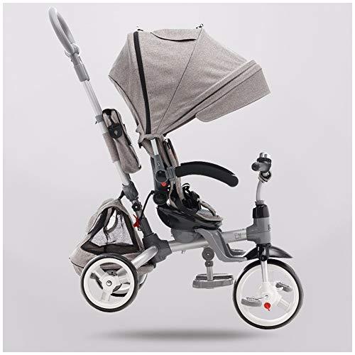 GSDZSY - 4 IN 1 Multifunktions Dreirad Für Kinder, Verstellbarer Sitz, Baby Kann Flach Sitzen Oder Liegen, Der Sitz Ist Bequem Und Leicht Zu Bedienen, 1-6 Jahre Alt