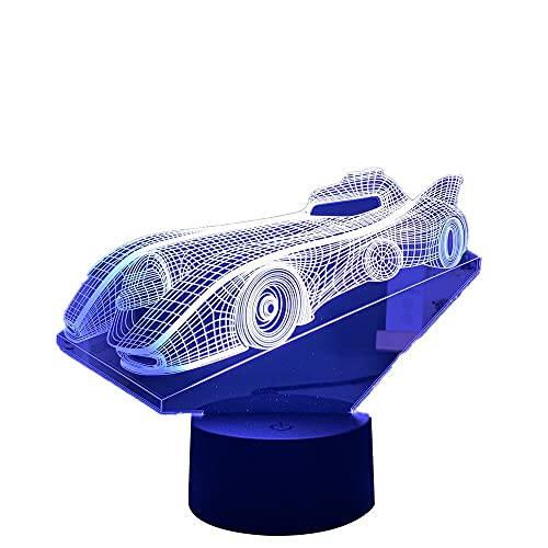 Acrílico 3D ilusión bebé noche luz deportes coche noche luz para niños niño dormitorio decoración mesita noche lámpara carreras coche regalo