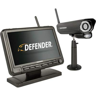 Defender PhoenixM2 Security System - Indoor and Outdoor Wireless Security System Camera with LCD Screen - Business and Home Security System - Plug and Play, No WiFi Connection Required (1 Camera)