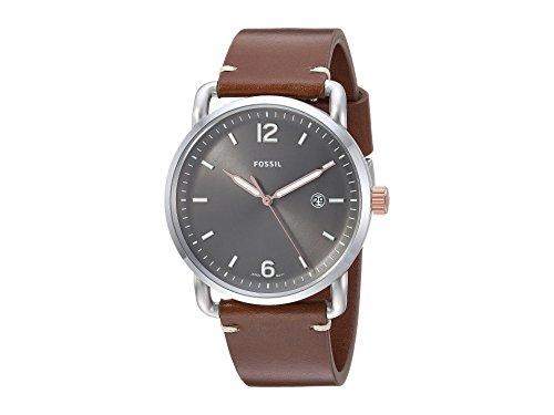 Fossil Herren Analog Quarz Uhr mit Leder Armband FS5417