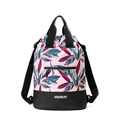 Vooray 23L Ultra-Durable Flex Cinch Gym Drawstring Backpack Sackpack for Women (Botanic Pink)
