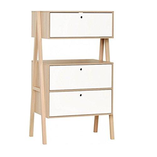 Commode 3 tiroirs Spot - Blanc