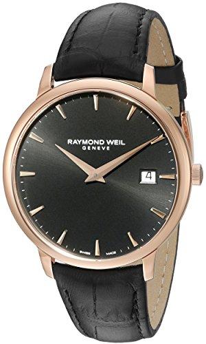 Raymond Weil Herren Analog Quarz Uhr mit Leder Armband 5488-PC5-20001