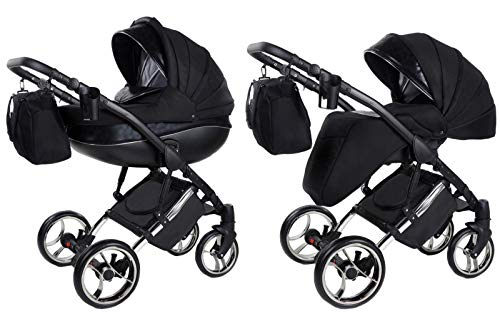 Kinderwagen 3 in1 Kombi Set mit Autositzwahl Buggy isofix Cross X by Chillykids Black Smoke 03 4in1 Autositz +Isofix