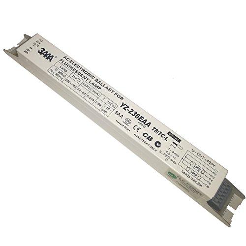 2pc 3AAA YZ-236EAA T8 TC-L 220-240V 2x36W L290D lámpara de neón/lámpara fluorescente de arranque instantáneo balasto electrónico