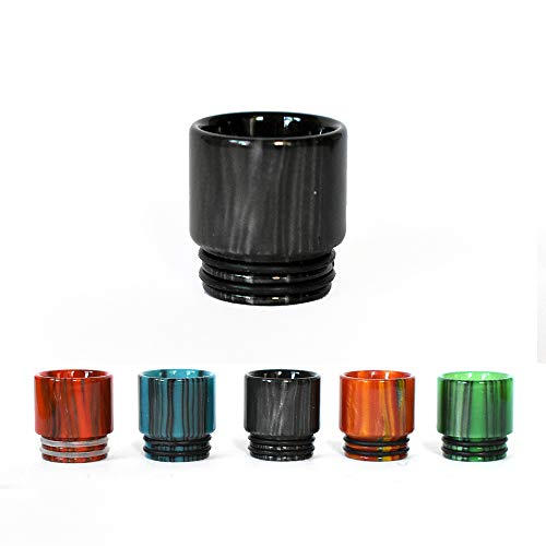 Vaportown Résine époxy 810 Drip Tip pour SMOK TFV12 Prince, TFV12 Cloud Beast King, TFV8 Cloud Beast, TFV8 Big Baby, TFV8 Kit X-Priv T-Priv Pro-Color Réservoirs Goon RDA, Kylin RTA (Noir)