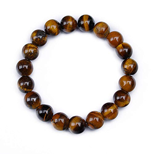 WUANNI Bracelets for Woman,Amazon Hot A-Level Natural Tiger Eye Bracelets Manual DIY Beaded Bracelet Factory outlets Can be customized-10MM