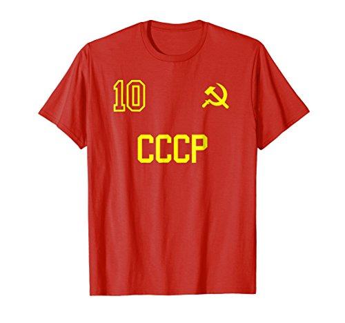 Retro USSR Soccer Jersey CCCP Soviet Union Football T-Shirt
