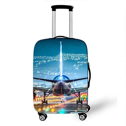 Cubierta para Equipaje, CNNINHAO 3D Funda Maleta Cubierta de Equipaje Elasticidad Viaje Maleta Funda Protectora (Avión 4,XL (30-32 Pulgadas))