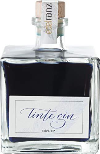 Tinte Gin by edelranz 0.5l - Premium Dry Gin mit Farbwechsel aus ausgewählten Botanicals mit Aromen von Zitrus, Wacholder & Süß- & Sandelholz