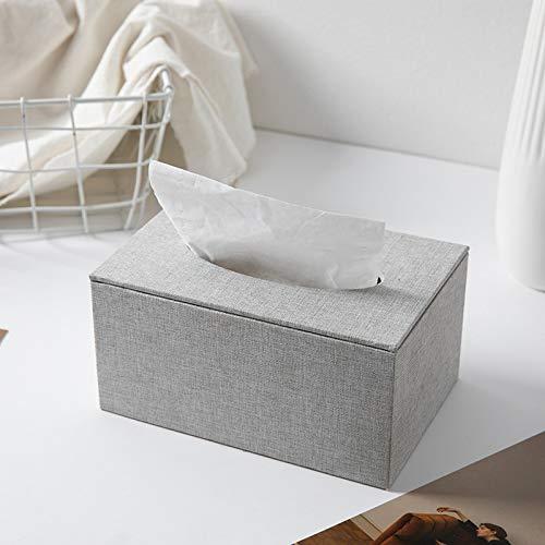 hsy Caja de pañuelos Toallitas Home Design Holder Material Accesorio,Cubierta de Caja de pañuelos Soportes para Cajas de pañuelos Dispensador de pañuelos de Doble Capa Dispensador de servilletas