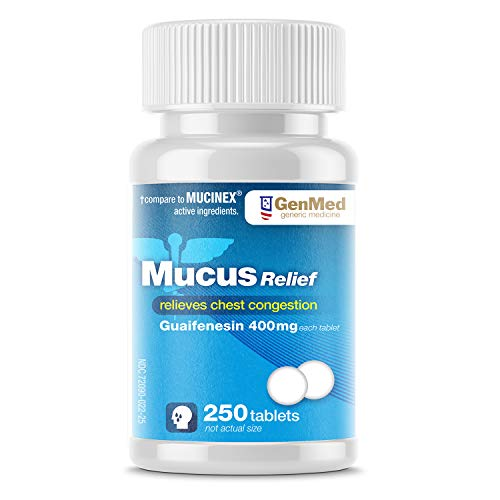 Genmed Mucus Relief, 250Count, Compare to Mucinex Active Ingredients