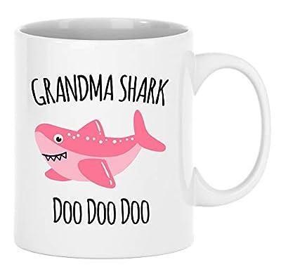Grandma Shark Mug - Grandmother Mug - Gift For Grandma - Birthday Gift From Grandkids - Christmas Coffee Cup Present
