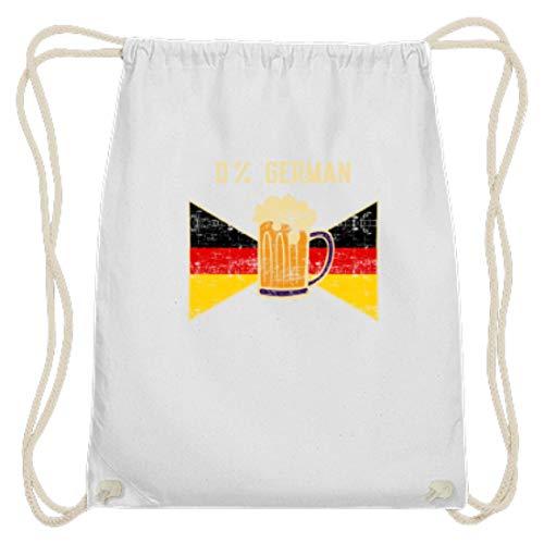 SPIRITSHIRTSHOP 0% Duits - 0% Duits - vlag, Duitsland, bier, drinken, bierzufer, buitenlanden - Katoen Gymsac