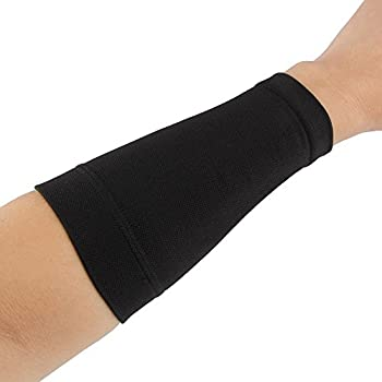 Black/Skin Forearm Tattoo Cover Up Band Compression Sleeves Men Women  1PCS   M Black
