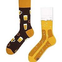 Modèle: Craft Beer Motif chaussettes: bière, bretzel Couleur: marron, jaune Chaussettes de bière pour femmes et hommes Entretien: 40 ° c, ne pas sécher en machine.