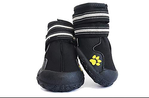 WELBLQ Huisdier Schoenen Waterdicht Mode Hond Schoenen Ademend Medium En Grote Hond Schoenen Sandalen Zomer, 5#, Zwart