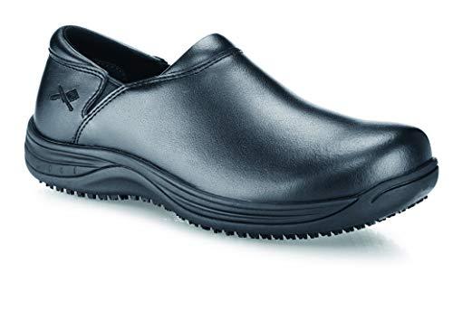 Shoes for Crews M40970-45/10 MOZO FORZA, Sabots en cuir antidérapants pour hommes, Taille 45, Noir