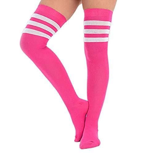 adam & eesa 1 order 3 Paare Damen Frauen über dem Knie färbten 3 gestreifte Socken Schenkel hohe Strümpfe Großbritannien 4-6.5