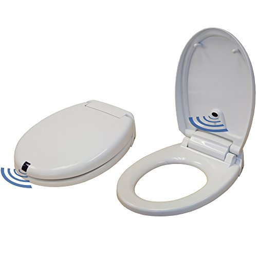iTouchless Touch-Free Sensor Controlled Automatic Toilet Seat - Round Model,...