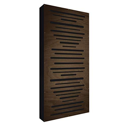 AbFuser WOOD 100x50x11,5cm by Addictive Sound | Hybride Akustikelemente verbessert die Raumakustik und Schalldämmung | Akustikpaneele – Wenge