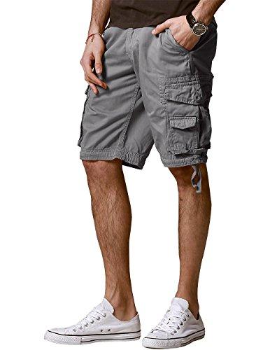 Match Men's Comfort Cargo Short (Label Size L/32 (US 30), 3056 Gray)