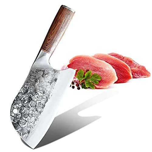 Cuchillo vikingo, chino de cocina, cuchillo huusk japonés, cuchillo de carnicero, cuchillo Top Chef, cuchillo vikingo cocina (cuchillo para rebanar)