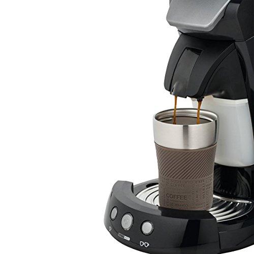 Thermobecher to go - passt unter jeden gängigen Kaffeeautomat Farbe braun, silber 230 ml