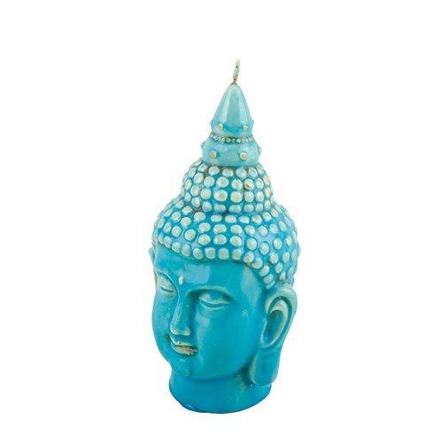 World Buyers Buddha Bust Candle 2.75x5 H (Turquoise Glaze)
