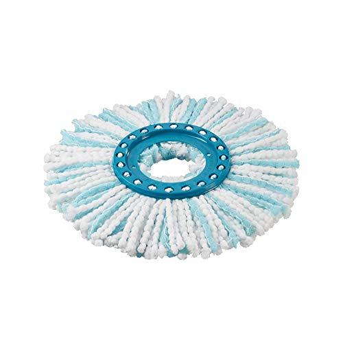 Leifheit Ersatzkopf Clean Twist Disc Mop Ergo microduo, blau/weiß (1 Stück)