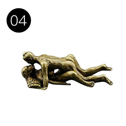 Zweiteilige Erotik Bronzefigur Skulptur, Weiblicher Akt Bronziert Figur Skulptur, Bronze Sexy Figuren, Heiße Sexy Frauen, Die Liebenden Vertrauen Paar In Umarmung Akt Bronziert Figur Skulptur