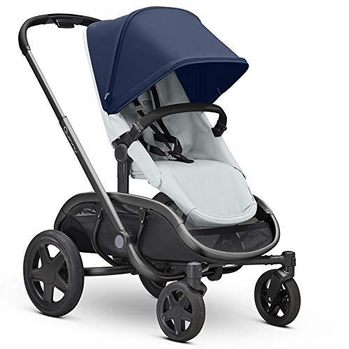 Quinny Hubb Mono XXL Shopping-Kinderwagen, großer Einkaufskorb, einfach klappbarer Kinderwagen, 6 Monate bis 3,5 Jahre, Navy On grey/Blau